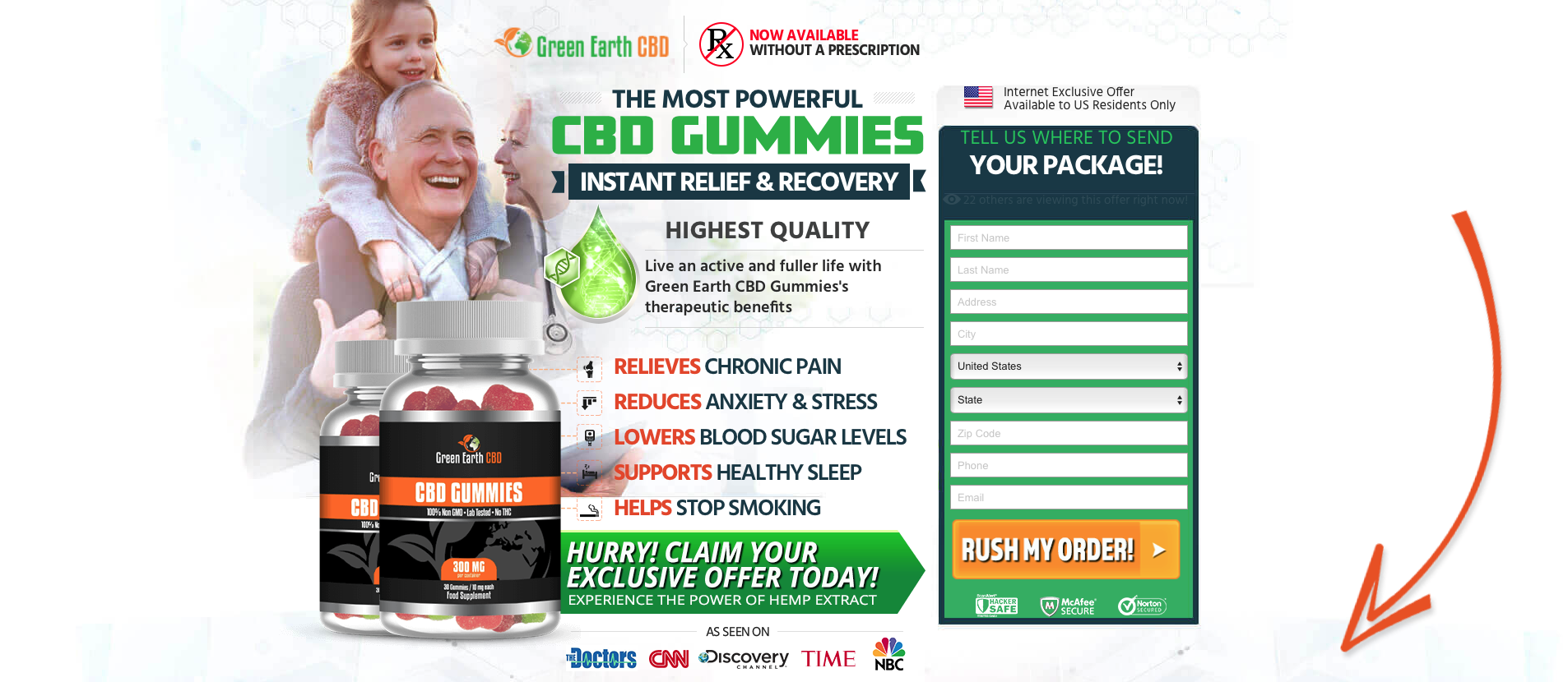 <strong> Try A Full Month's Supply of CBD<br/> Just Pay Shipping! <strong><br/> Today Only!